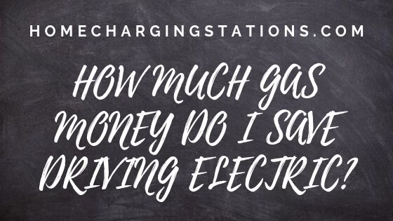 How much gas money do I save driving electric banner